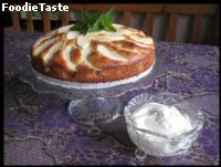 Apple cake with almond paste