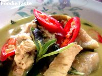 ᡧ������ҹ�� (Green curry chicken)