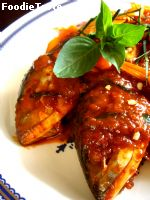 ������ҷ�ʴ (Mackerel in dried red curry)
