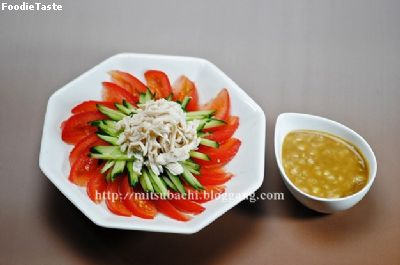 สลัดไก่บันบันจิ bang bang chicken salad