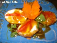 ���١�� (Egg with Tamarind Sauce)