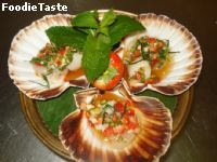 ��������� ʵ�������ʴ (Spicy Scallop/Strawberry Salad)