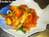 �����������ҹ (Cod fish fillet with Sweet and Sour sauce)