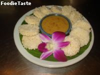 ���ǵѧ˹�ҵ�� (Crispy Rice with Tamarind peanut sauce)
