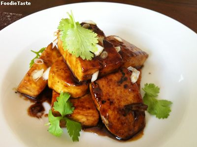 ����������������ҡ� (Tofu steak with Teriyaki sauce)