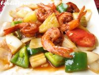 Sweet  and sour  shrimps   �����������ҹ