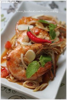 ���ҡ�� (Spicy Grilled Prawn with Lemongrass)