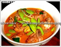 ᡧ�����١����§����е͡Ѻ��д١�����͹ ( Reng nut and Pakrai Nut curry with pork spare rib)
