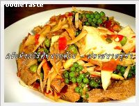 �ͧ���«���� (Stir fried tofu with fingerrot and mango ginger)