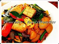 �ѡ���ùռѴ��ع�� (Stir fried macaroni and herbs)