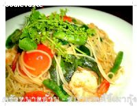 ʻ�ࡵ�������ҡ�� (Spaghetti with spicy prawn)